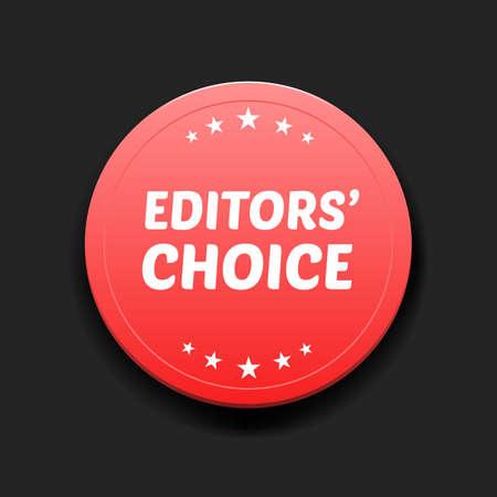 editors: Editors Choice Round Label