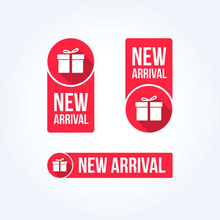 Neue Ankunfts-Labels Vektorgrafik
