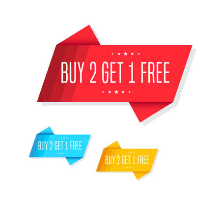 Buy 2 Get 1 Free Tags Illustration