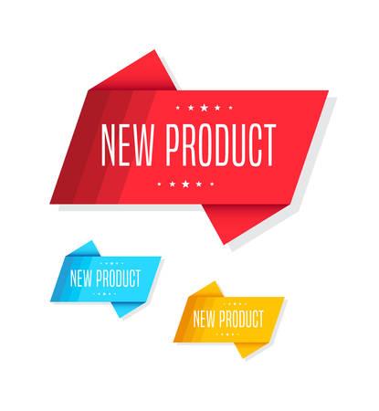 New Product Tags Vektorové ilustrace