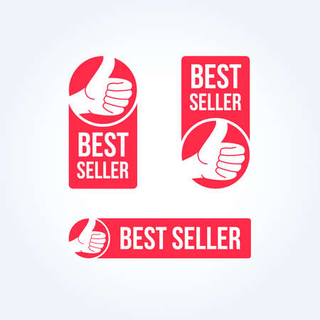 seller: Best Seller Labels Illustration