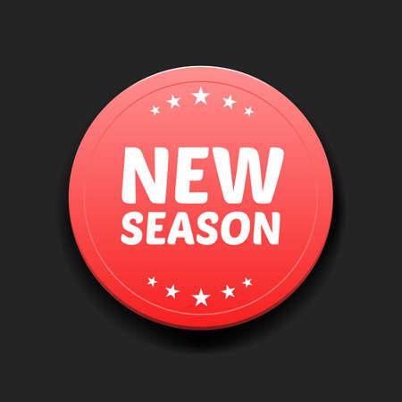 season: New Season Round Label Illustration