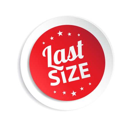 size: Last Size Sticker