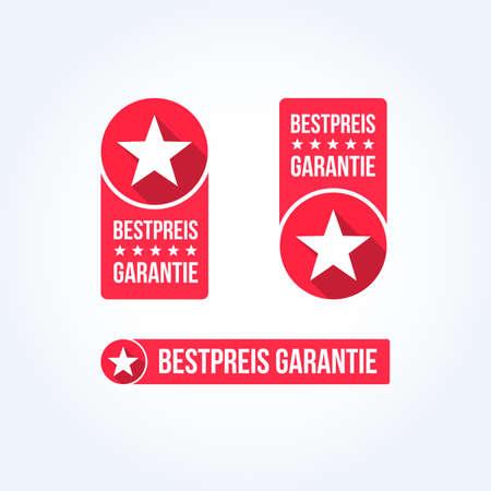 quality icon: Best Price Labels German Illustration