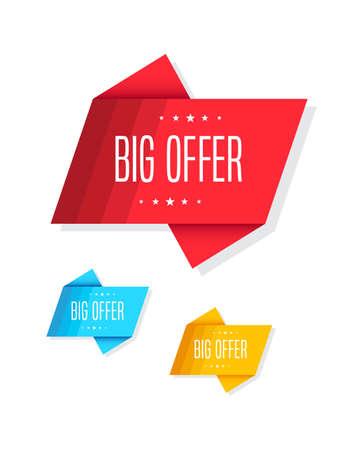 christmas savings: Big Offer Tags Illustration