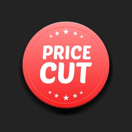 slash: Price Cut Round Label