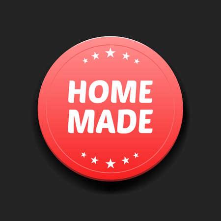 home made: Home Made Round Label