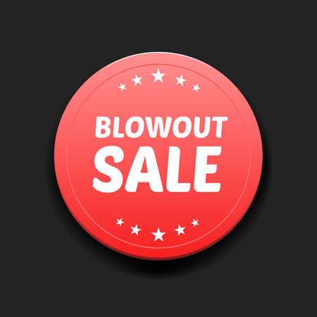 blowout: Blowout Sale Round Label