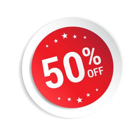 50: 50% Off Sticker