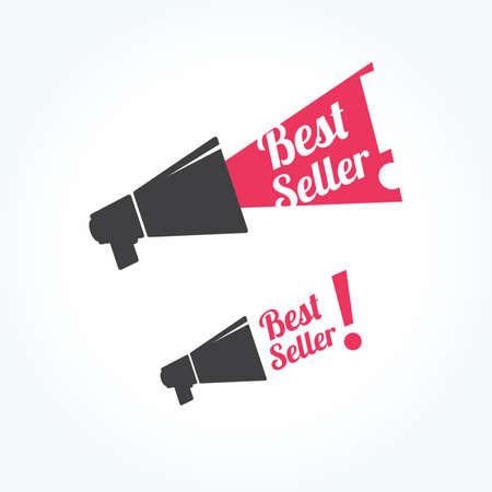 Mejor Icono del megáfono del vendedor Ilustración de vector