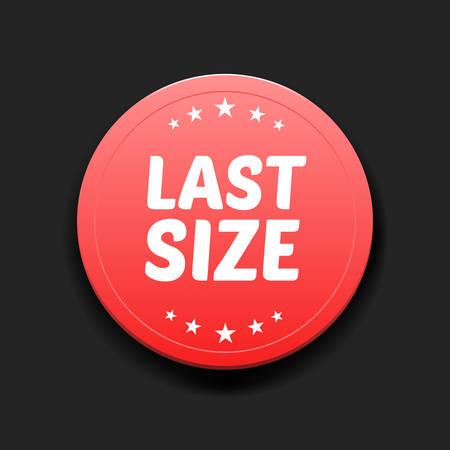 size: Last Size Round Label Illustration