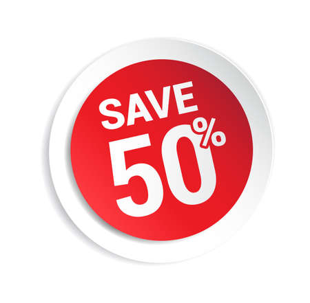 50: Save 50% Sticker