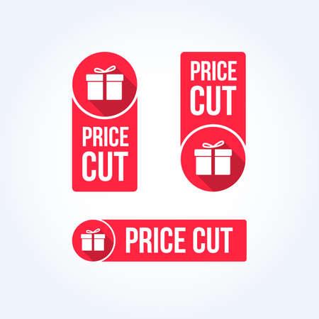 price cutting: Price Cut Labels