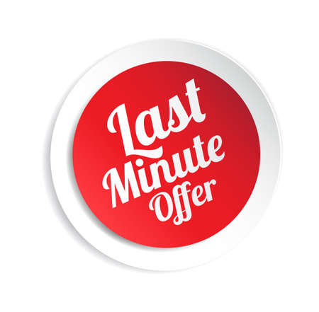 minute: Last Minute Offer Sticker