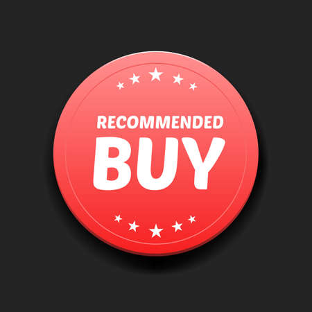 recommended: Recommended Buy Round Label Illustration