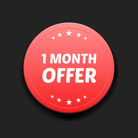 month: 1 Month Offer Round Label