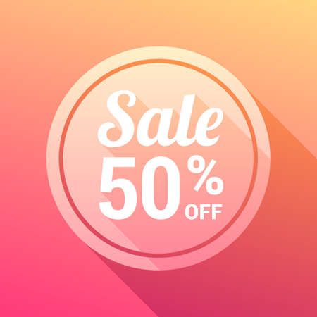 50: Sale 50% Off Label