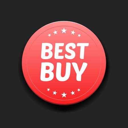 the best: Best Buy Round Label Illustration