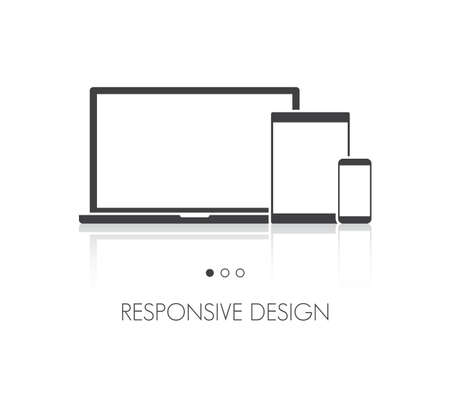 mobile website: Laptop, Tablet & Phone Responsive Icon