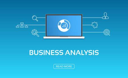 Business Analysis Laptop & Icons