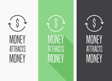 money: Money Attracts Money Illustration