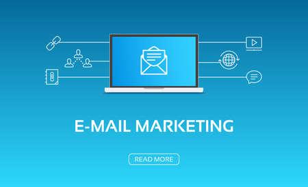 E-Mail Marketing Laptop & Icons