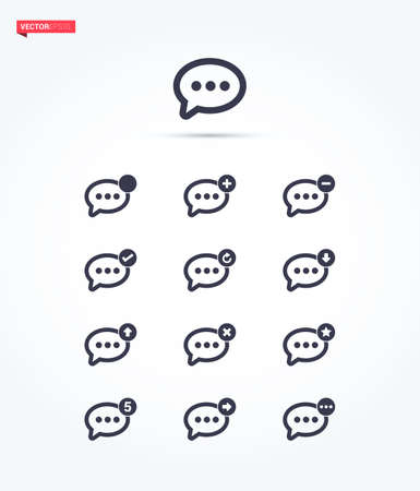 message: Message Icons Illustration