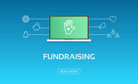 fundraising: Fundraising Laptop & Icons