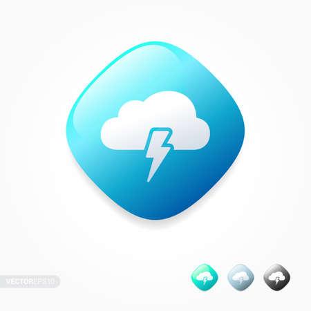 storm cloud: Storm Cloud Icons Illustration