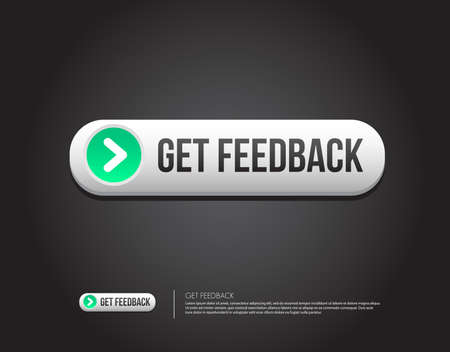 feedback button: Get Feedback Button Illustration