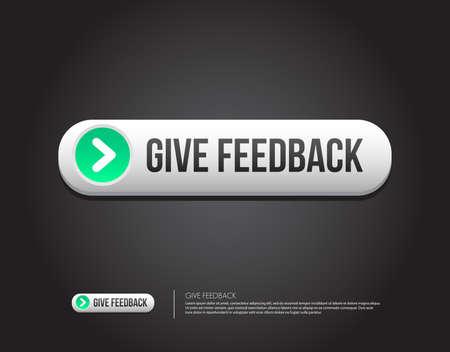 feedback button: Give Feedback Button Illustration