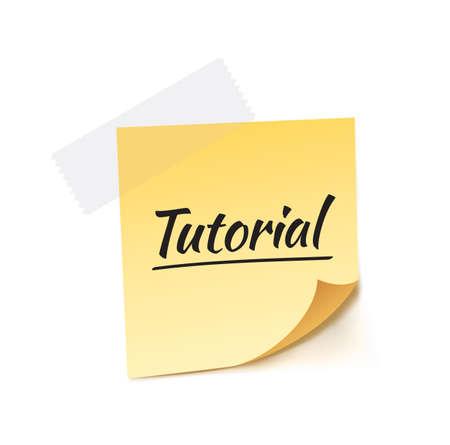 stick note: Tutorial Stick Note Vector Illustration