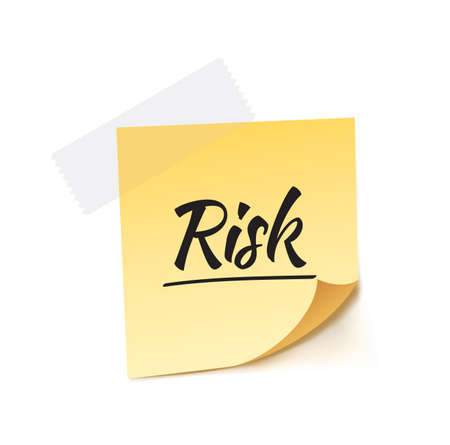 post it: Risk Post It Vector Illustration Illustration
