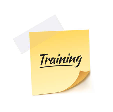 stick note: Training Stick Note Vector Illustration