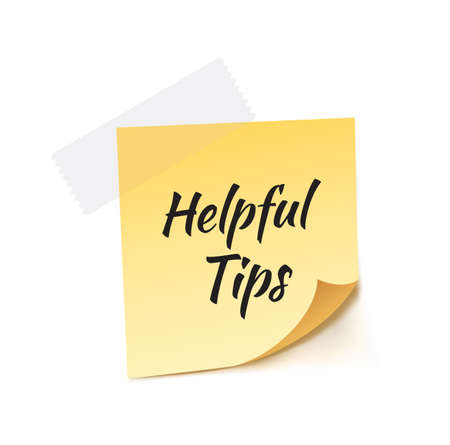 helpful: Helpful Tips Stick Note Vector Illustration