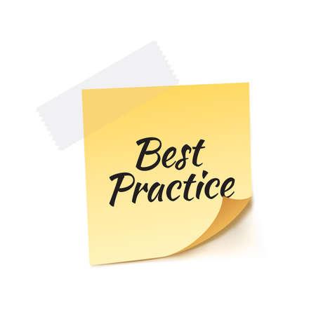 stick note: Best Practice Stick Note Vector Illustration