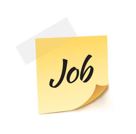 job opening: Job Stick Note Vector Illustration