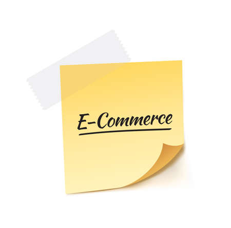post it: E-Commerce Post It Vector Illustration Illustration