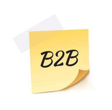 b2b: B2B palo nota ilustración vectorial