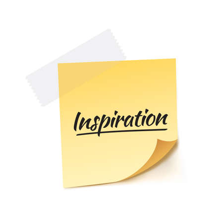 post it: Inspiration Post It Vector Illustration