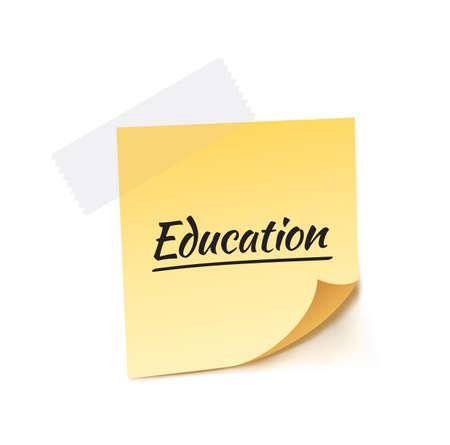 stick note: Education Stick Note Vector Illustration