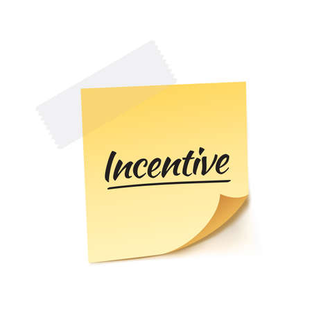 the stimulus: Incentive Post It Vector Illustration