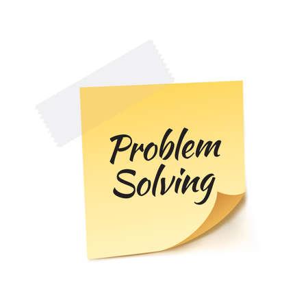 in problem: Problem Solving Stick Note Vector Illustration