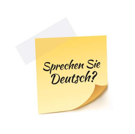 stick note: Do You Speak German Stick Note Vector Illustration
