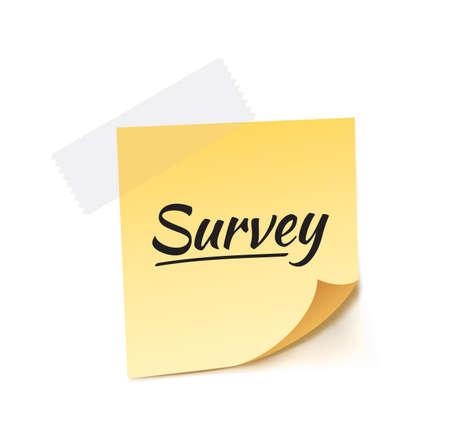 inquiry: Survey Stick Note Vector Illustration