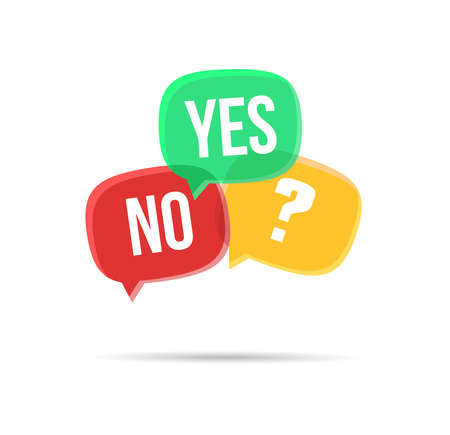 yes or no: Yes, No & NA Bubbles Illustration