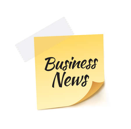 article marketing: Business News Stick Note Vector Illustration