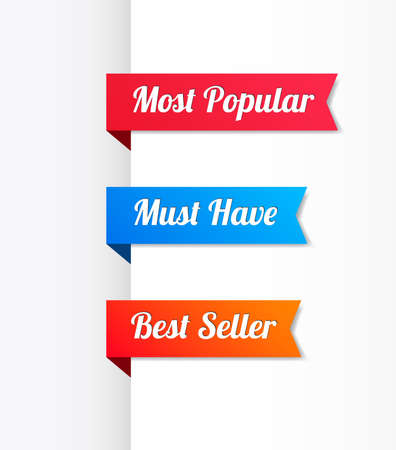 most popular: Most Popular, Must Have & Best Seller Ribbons Illustration