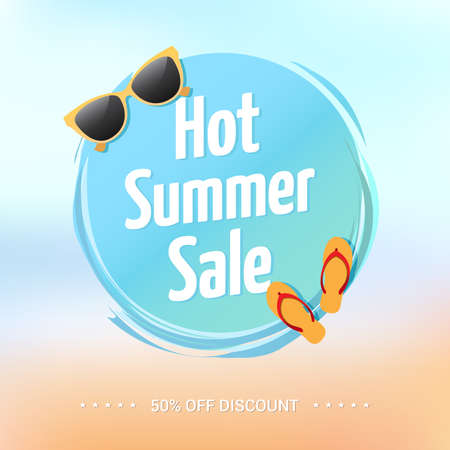 hot summer: Hot Summer Sale Label