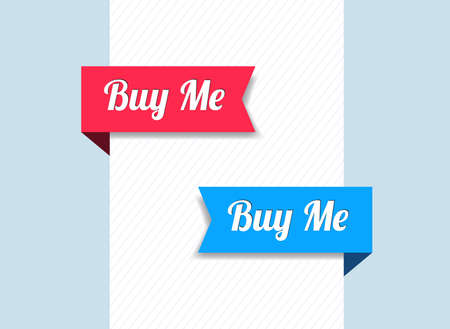 Buy Me Ribbons Vector Illustration